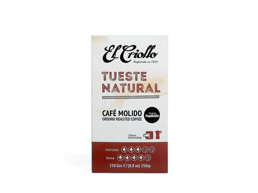 Mletá káva El Criollo NATURAL ROASTED 250g